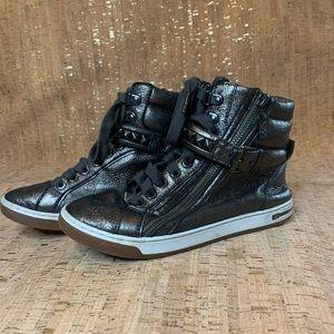 Michael Kors Metallic High Top Sneakers Sz 6